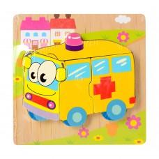 Деревянная игрушка Пазлы 15X15-7 скорая помощьке