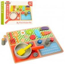 Деревянная игрушка Продукты MD 1223 плита, сковорода