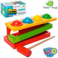 Деревянная игрушка Стучалка MD 0026 молоточек, шарики 4шт