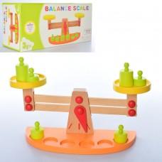 Деревянная игрушка Весы MD 2120 гирьки