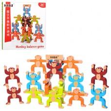 Дереянная игрушка Игра MD 1189 удержать равновесие, фигурки-обезьянки