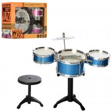 Барабанная установка 992-1-5 38-20-43см, барабаны3шт, стульчик, 2вид