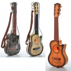 Гитара 180A14 54см, струны 6шт, микс видов, в чехле