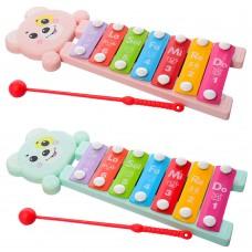 Ксилофон 668-61 25, 5см, 7тонов, палочка, 2 цветаке