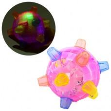 Мяч FJ 9385 Мяч на бат-ке, музыкальный, свет, 13см