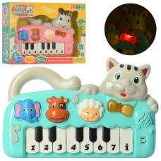 Пианино 999-10A 26 см, кот, музыка, звук, свет