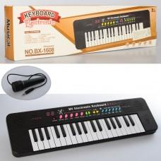 Синтезатор BX-1608A 37клавиш, 45см, микрофон, муз, звуки животных, демо, на бат, кор-ке