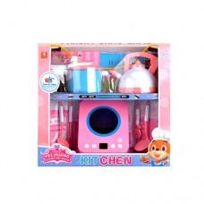 Электроплита DL952, звук, свет, таймер, чайник, кастрюля, кухонный набор