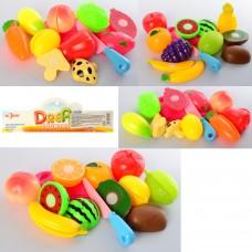 Продукты 054C-16-17 на липучке, 4вида овощи/фрукты, досточка, ножке
