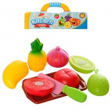 Продукты 66-80-81-85 на липучке, тарелка/досточка, нож, овощи/фрукты