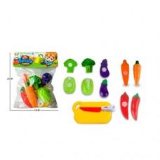 Продукты 666-124AB на липучке, овощи, досточка, ножке