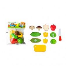 Продукты 666-125AB на липучке, овощи, досточка, нож