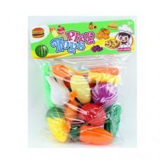 Продукты CY8989-3 на липучке, овощи, краб, кухон.набор, досточка, ножке
