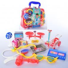 Доктор 108K стетоскоп, шприц, очки, инструменты, в чемодане, в карт.обертке, вкуль