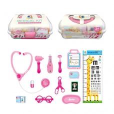 Доктор 4777-121-131 стетоскоп, очки, термометр, инстр, 2цвета, в чемодане