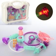 Доктор 5684-1 стетоскоп, ножницы, инструменты, звук, свет, бат таб, в чемодане