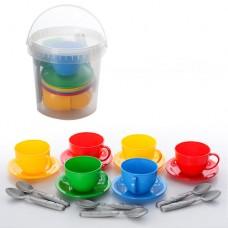 Набор посуды Чайный сервиз ТехноК (в ведерке) 0083 0083