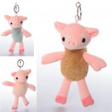 Аксессуар для сумки X15146 24см, свинка, брелок, плюш, 3 цвета