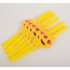 Аксессуары для праздника MET10147-9 трубочки, смайл, 12 шт, 26 см