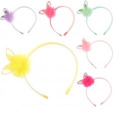 Аксессуары для волос TS-101 обруч, ушки, 12шт микс цветов в дисплее