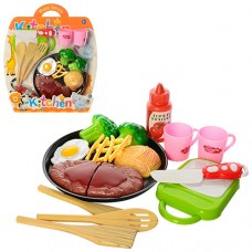 Продукты MJL-801B-17 на липучке, сковородка, чашки, досточ, нож, лопатка
