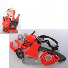 Набор инструментов 639-1B-5B телефон, отвертка, 2вида топор, пила/дрель в сетке