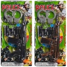 Набор полицейского 88001-02 автомат-трещотка, бинокль, наручники, 2вида