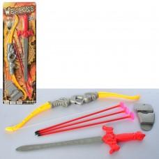 Набор рыцаря 333-3 лук, стрелы3шт, меч34см