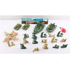Солдаты в наборах 933-N09 комбат, военный транспорт, солдатикике