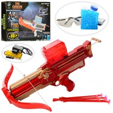 Арбалет LS203-A 44см, аккумулятор стрелы-присоски6шт, вод.пули, очки, USBзарядн