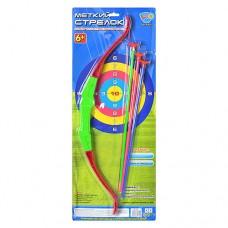 Лук M 0013 спортивная игра, лук, 3 стрелы на присосках, цветной
