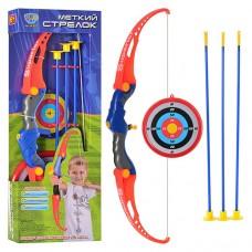 Лук M 0037 стрелы на присосках, мишень