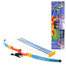 Лук M 0347 UR спортивная игра, лук, 3 стрелы на присосках, прицел, лазер, цветной