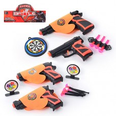 Набор оружия 02-8-03-11 пистолет 2шт, на присосках, кобура, мишень, 2 вида