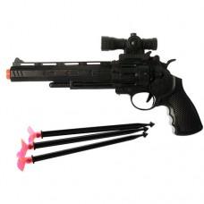 Пистолет 5611-1 28см, пули- присоски 3штке