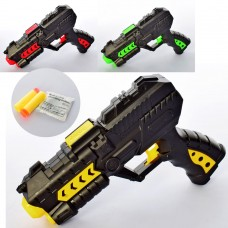Пистолет 716 21см, пули-присоски2шт, водяные пули, 3цветаке