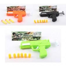 Пистолет CY-25A-26-6A 16см, пули присоски/резина, микс видовке
