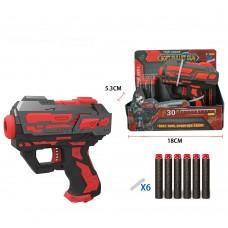 Пистолет FJ897 13см, пули-присоски, 6шт