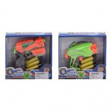 Пистолет JL-515-6 13см, мягкие пули 3шт, 2вида