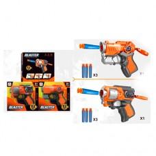 Пистолет SB474 13см, пули-присоски 3шт, 2вида