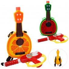 Водяной автомат M 5954 26см, с баллоном на плечи гитара, 2в арбуз, апельсин