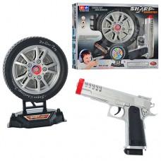 Пистолет 2148 Пистолет 2148 48шт 20см, мишень в виде колеса 16см, муз, свет, на батарейках, 31-26-6см