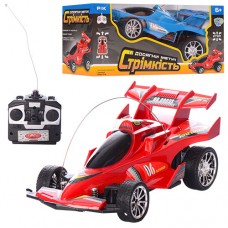 Машина 0909S-4F на радиоуправлении, гоночная, 19-8, 5-10см, рез.колеса