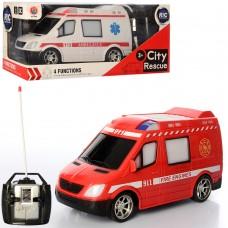 Машина 888-788 на радиоуправлении, 21см, свет, рез.кол, 2вида пожарн, скор.помощь, на батарейках