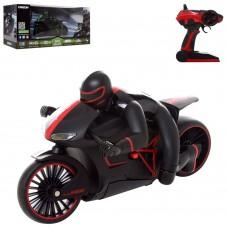 Мотоцикл 17MT01A на радиоуправлении 2.4GHz 24см, фигурка, свет, 2цв, поворот360