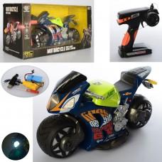 Мотоцикл A13-2 на радиоуправлении, аккумулятор 26см, свет, резин.колеса, USBзарядн