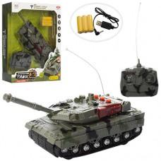 Танк 383-29A на радиоуправлении, аккумулятор 24см, USBзарядное, поворот на 360градусов, звук, свет
