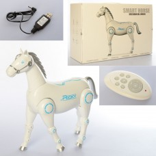 Лошадь 27118 на радиоуправлении, аккумулятор 37см, музыка, звук, ходит, танцует, двигает головой и хвостом, программируется, USBзар