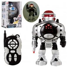 Робот 27109 на радиоуправлении, 30см, стреляет дисками, зв, св, ходит, ездит, 2цв, на бат