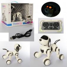 Собака 18011 на радиоуправлении, аккумулятор 28см, муз, звук, свет, ездит, танцует, USBзар